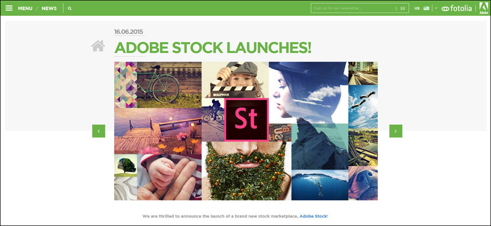 Adobe stock launches