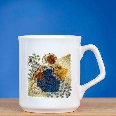 """Elegantiškas sublimacinis puodelis su atspaustu originaliu piešiniu """"FĖJA V"""""""