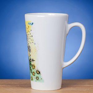 Latte puodelis su piešiniu PAVASARIS