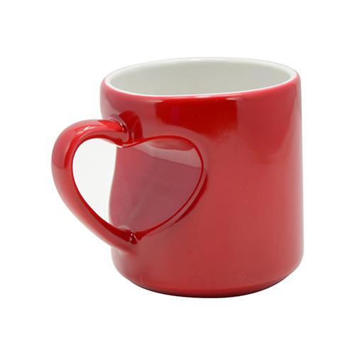 Raudonas puodelis magiškas širdelė