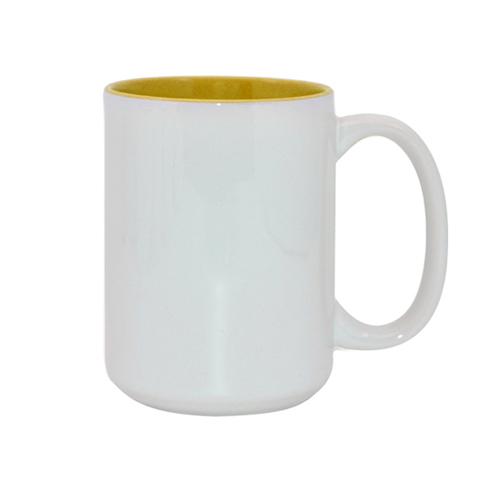 Puodukas milžinas geltonu vidumi