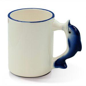 Puodelis delfinas-gyvafoto