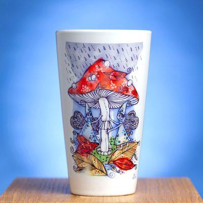 Latte puodelis su piešiniu Rudenėlis
